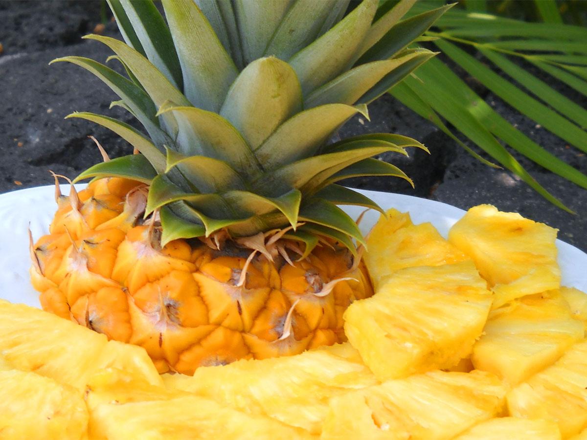 hoeveel weegt een ananas