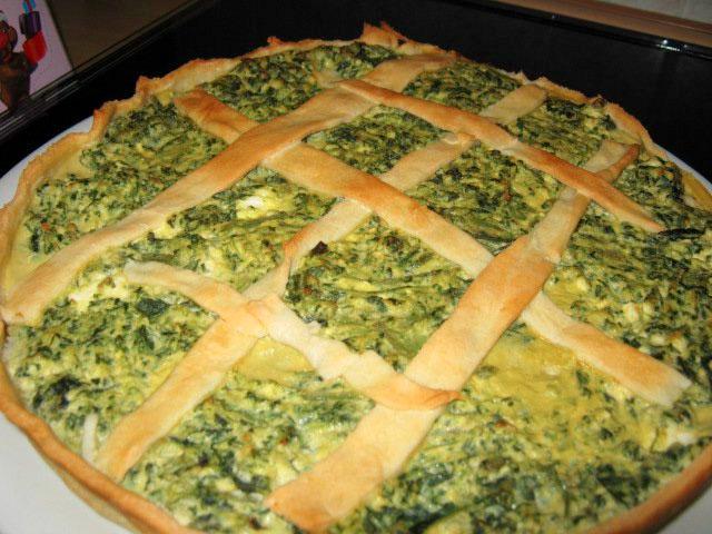 Torta salata con borragine e ricotta ricetta for Cucinare a 70 gradi