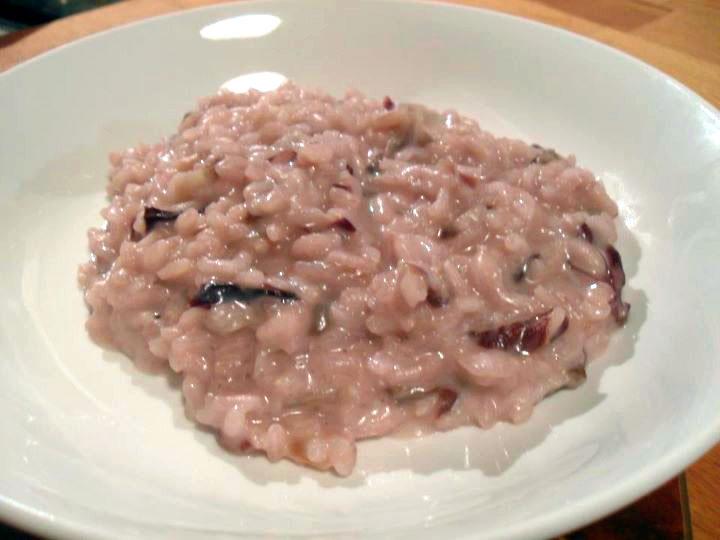 Risotto con radicchio e scamorza affumicata ricetta for Cucinare risotto