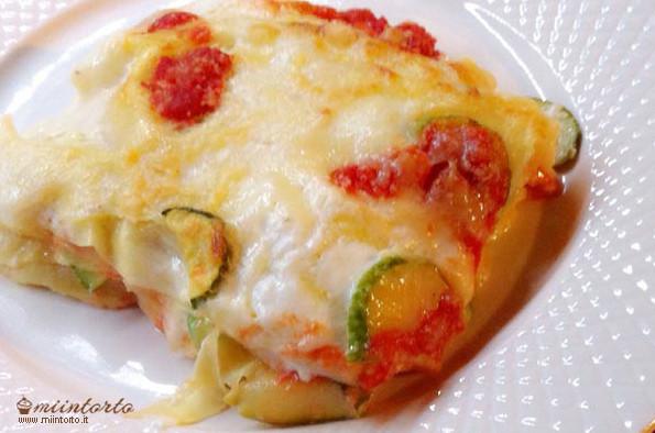 Lasagne di zucchine con pomodori ricetta for Cuocere v cucinare