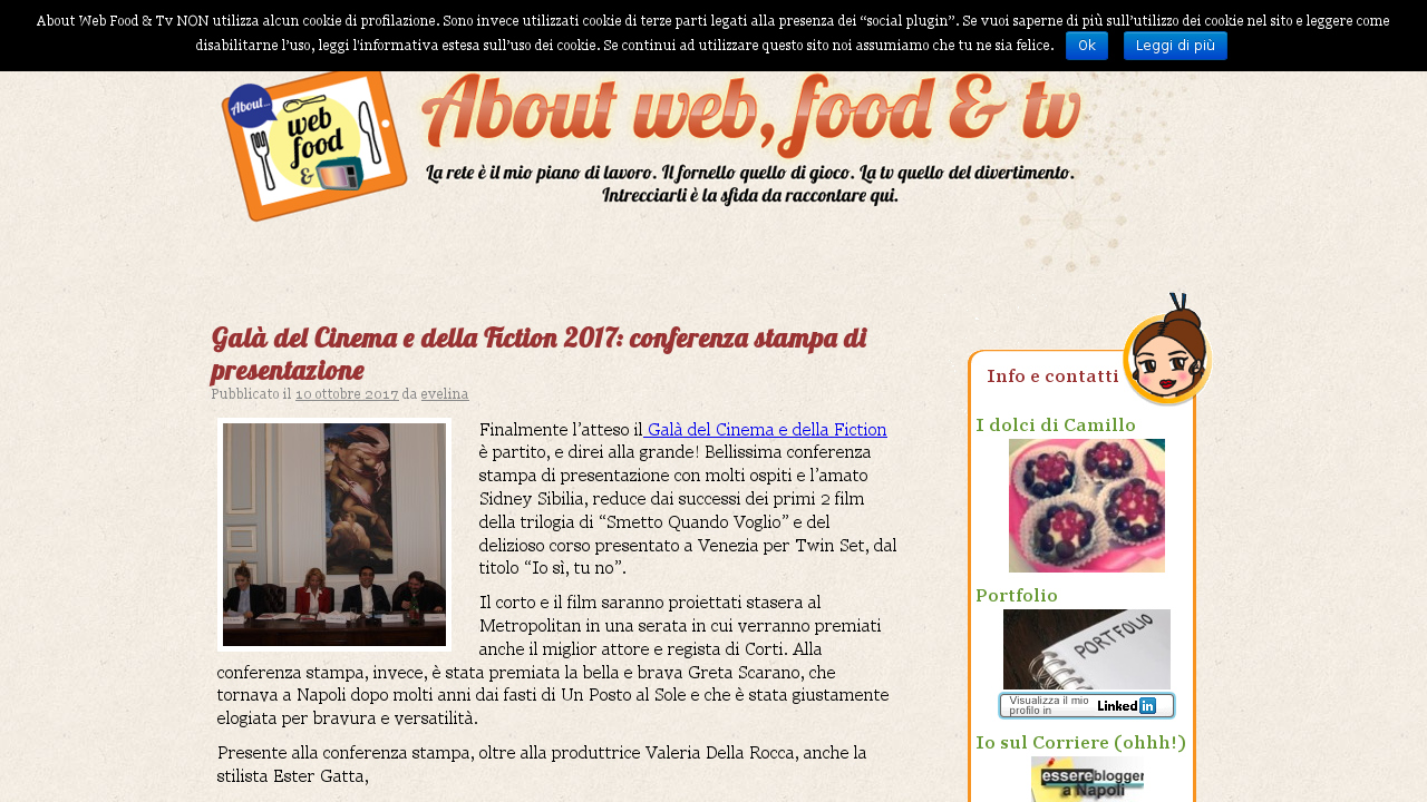 About web, food & tv