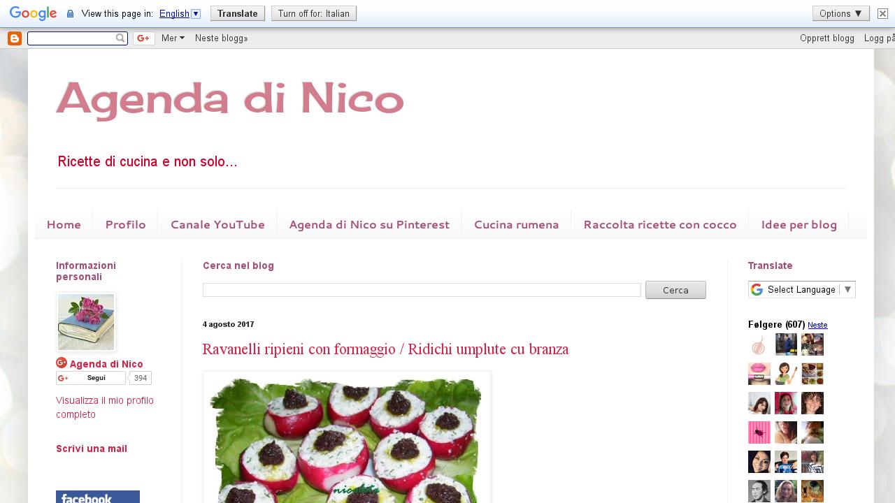 Agenda di Nico