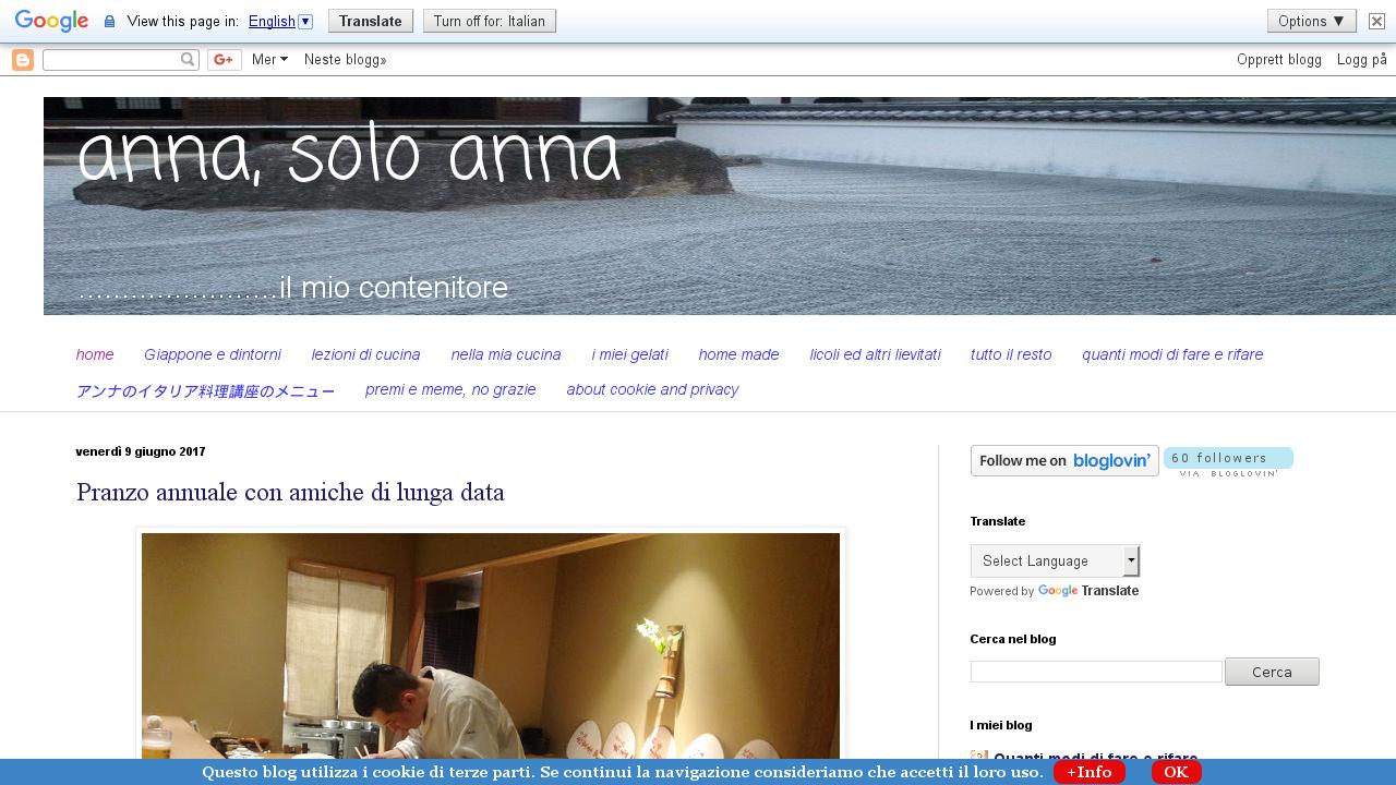 Anna, solo anna
