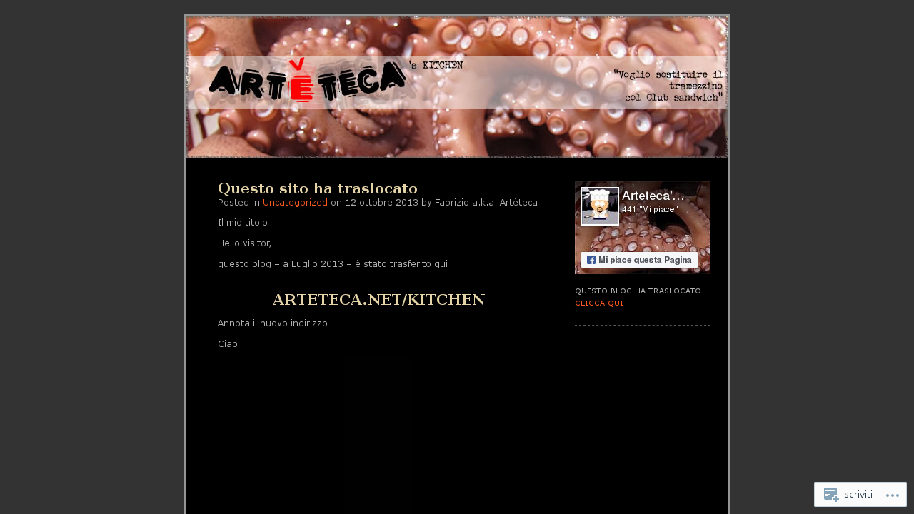 Artèteca's kitchen