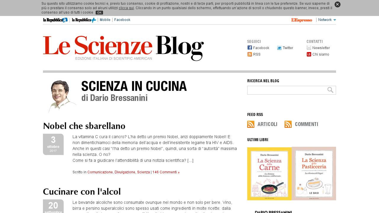 Blog Scienza in cucina