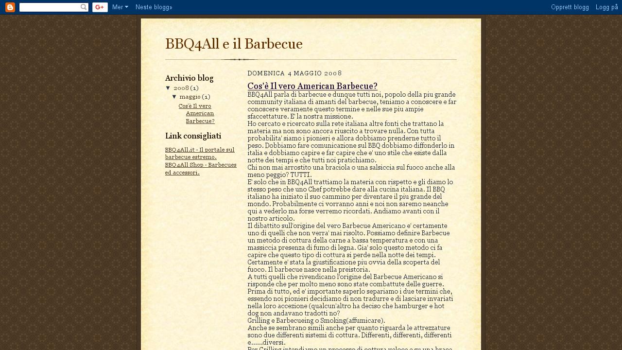 Bq4All e il Brbecue