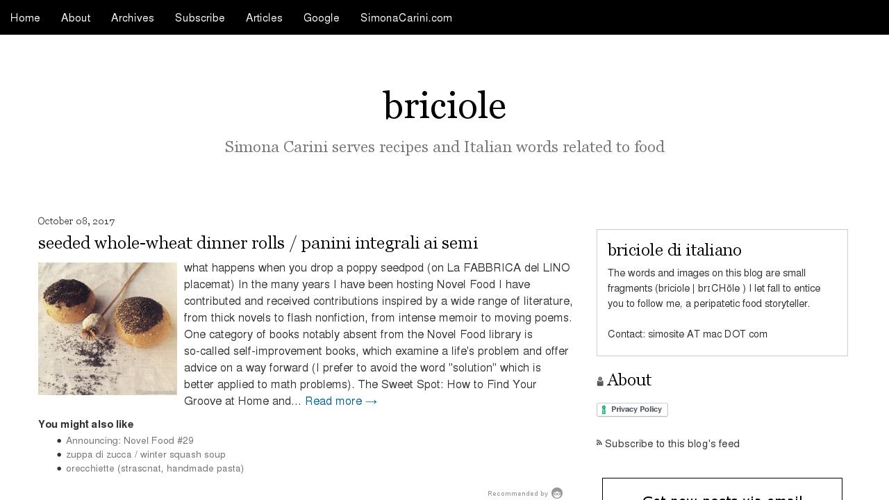 Briciole (In Inglese)