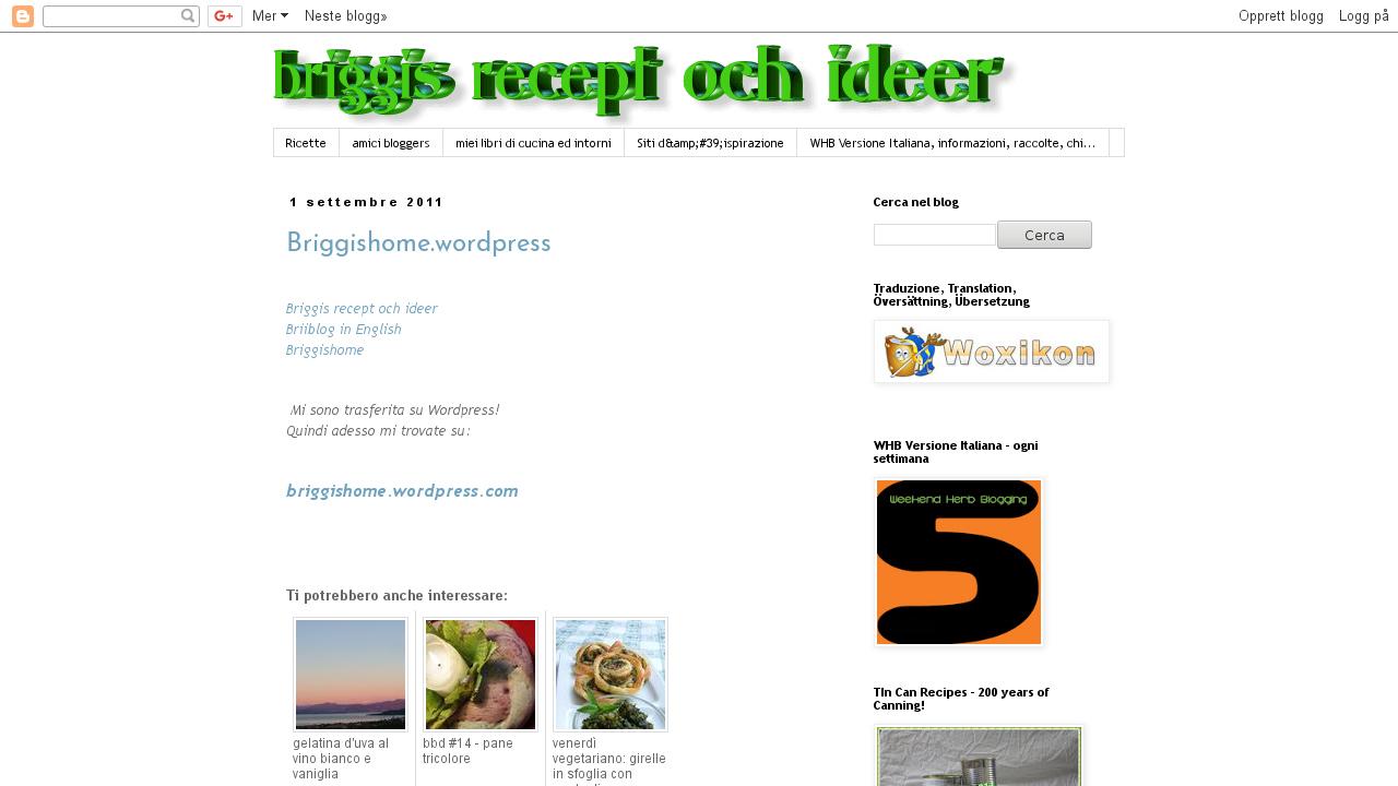 Briggis recept och ideer