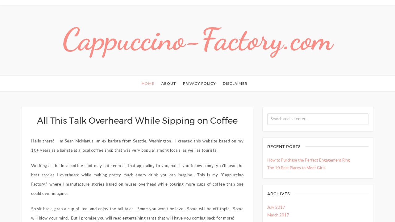 Cappuccino factory