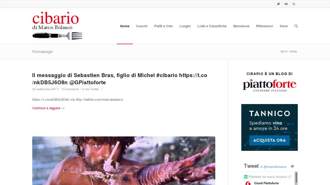 Cibario : il blog di Marco Bolasco