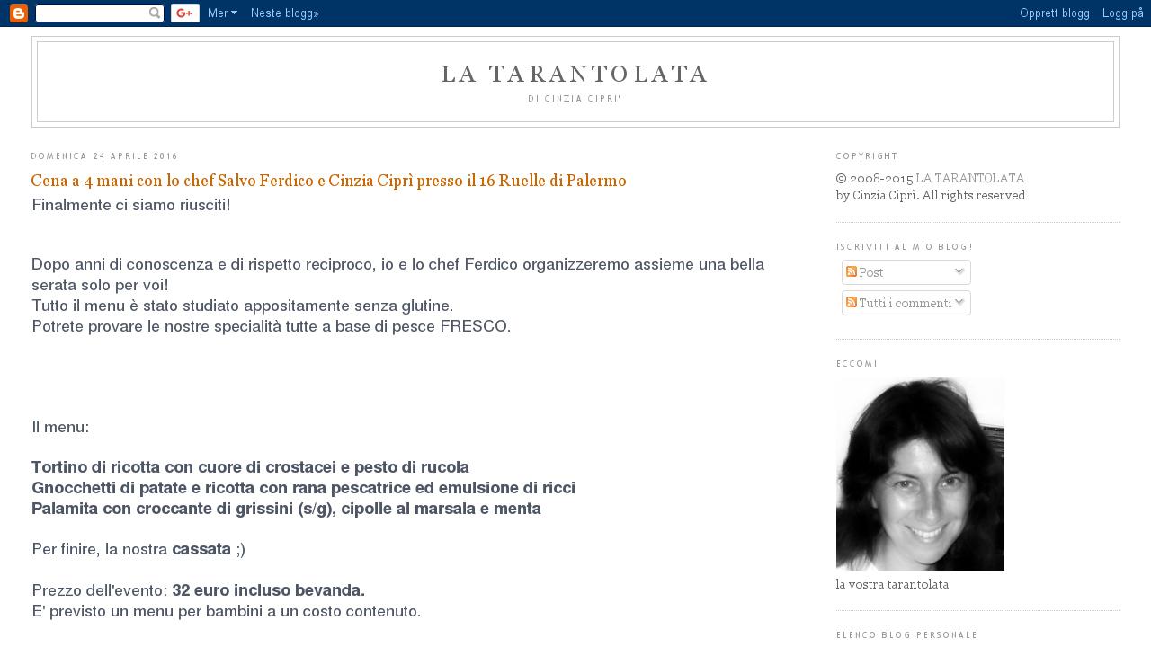Cinzia Cipri'- La tarantolata