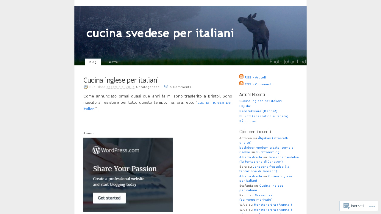 Cucina svedese per italiani