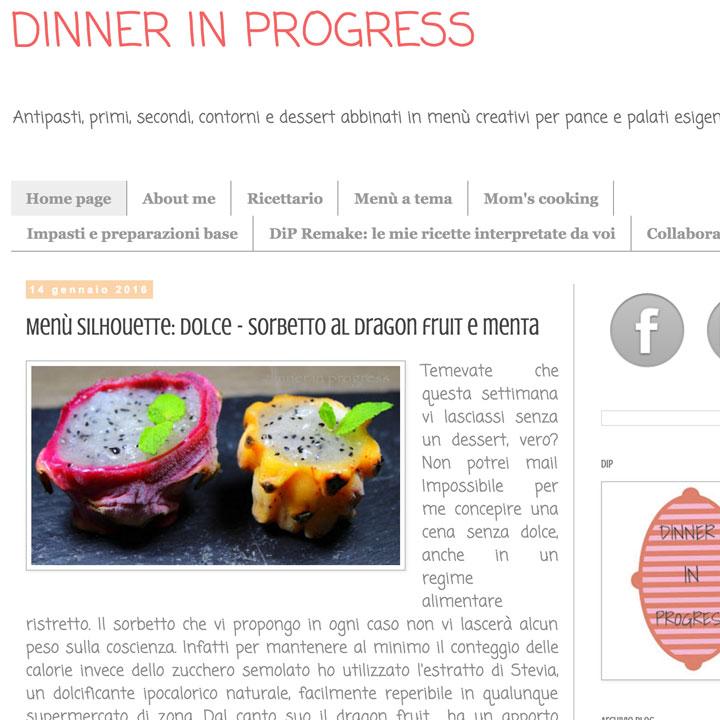 Dinner in progress