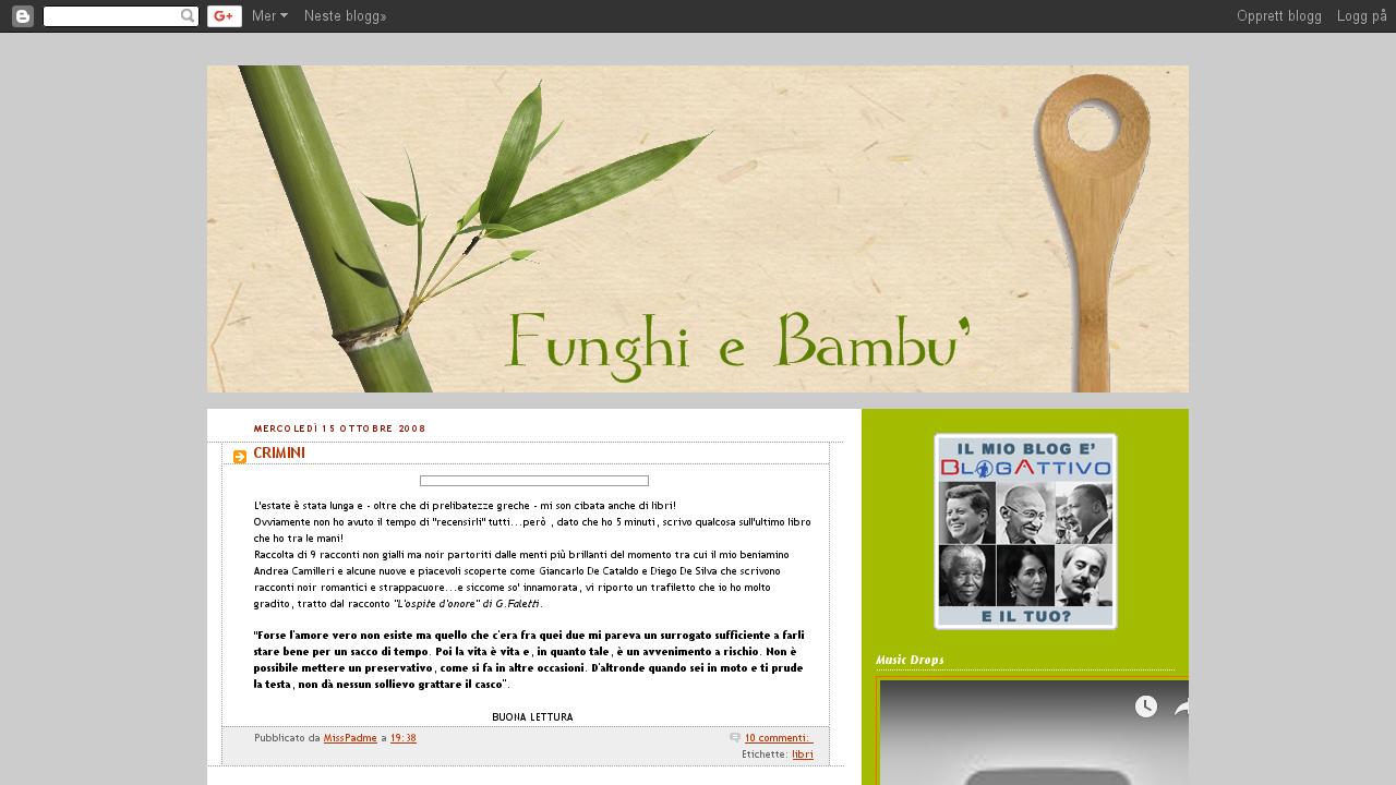 Funghi e bambu