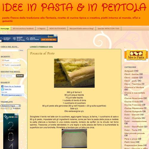 Idee in pasta & in pentola