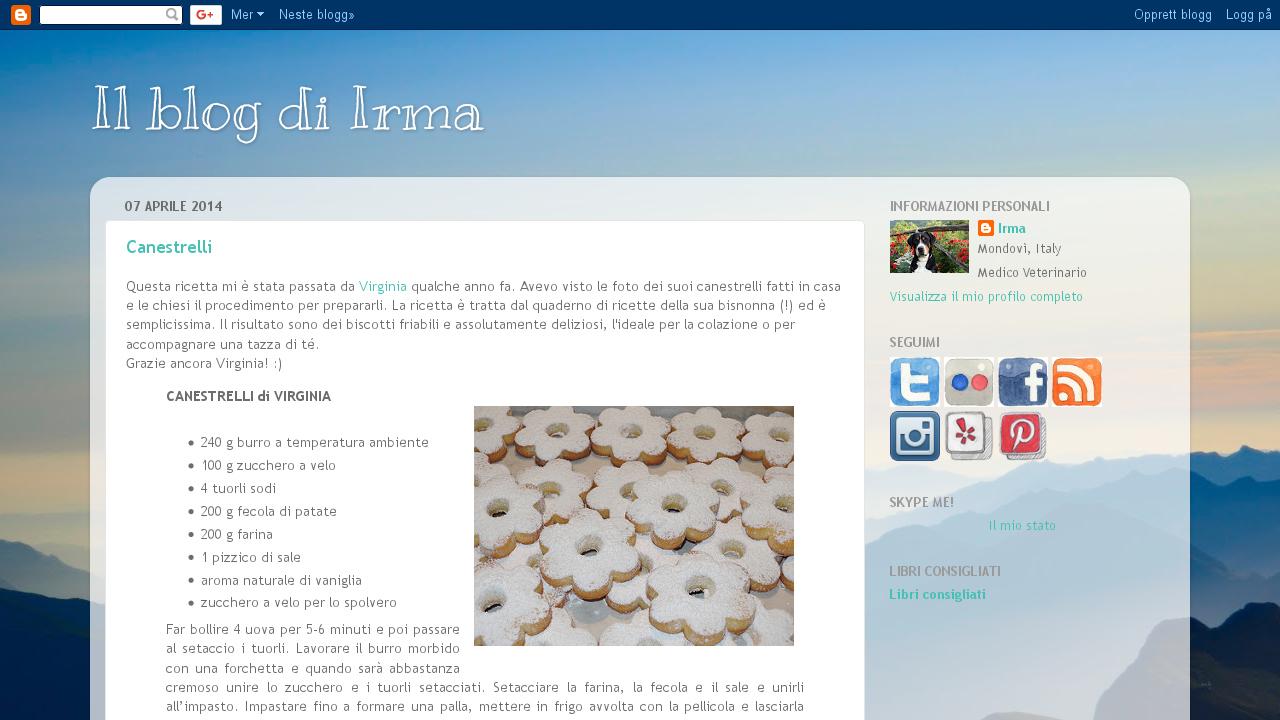 Il blog di Irma
