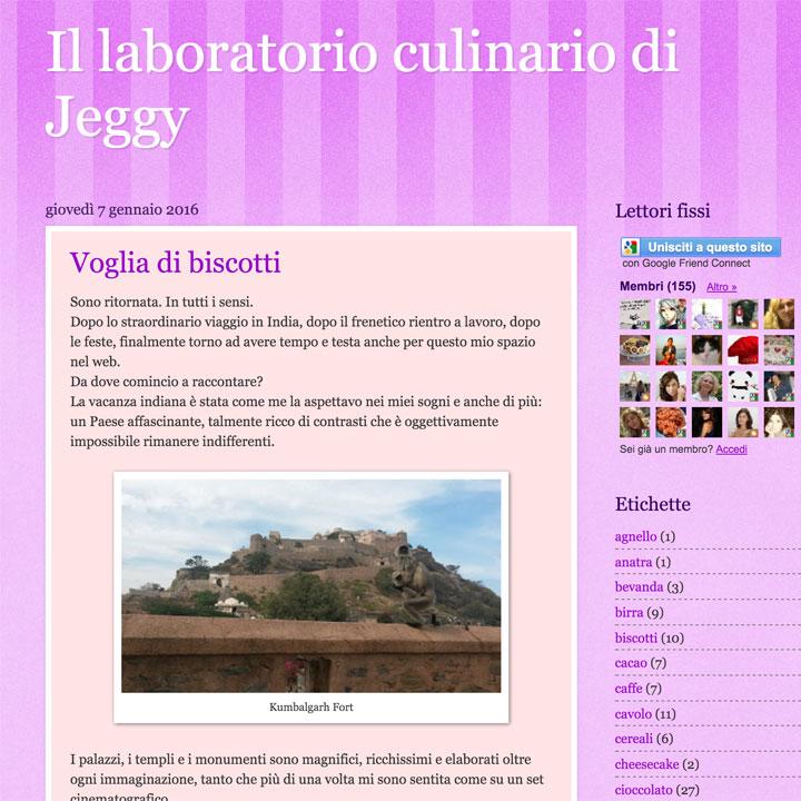 Il laboratorio culinario di Jeggy