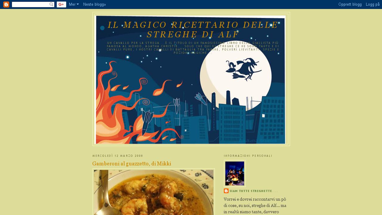 Il magico ricettario delle streghe di Alf