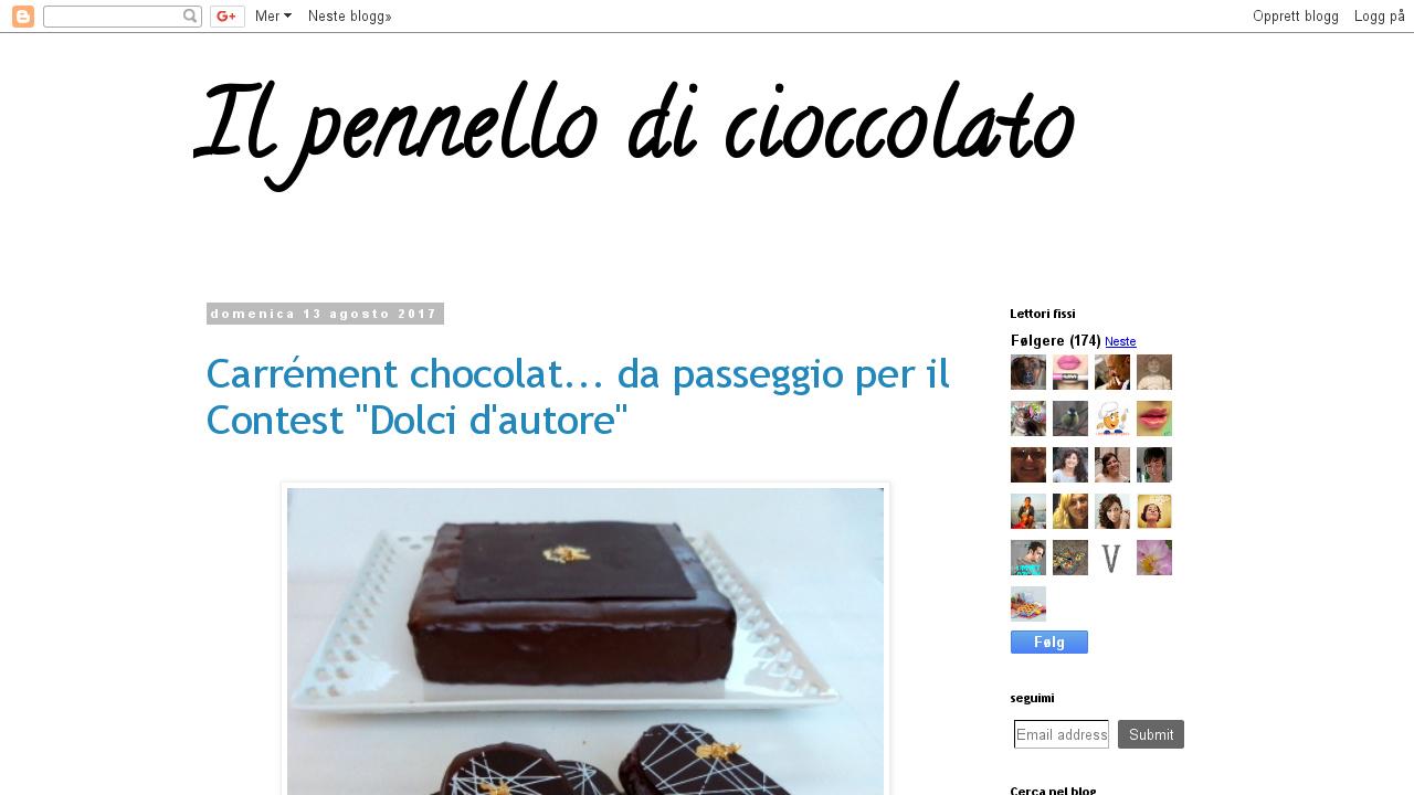 Il pennello di cioccolato