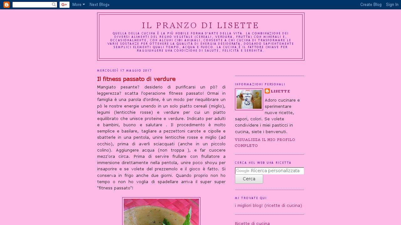Il Pranzo di Lisette