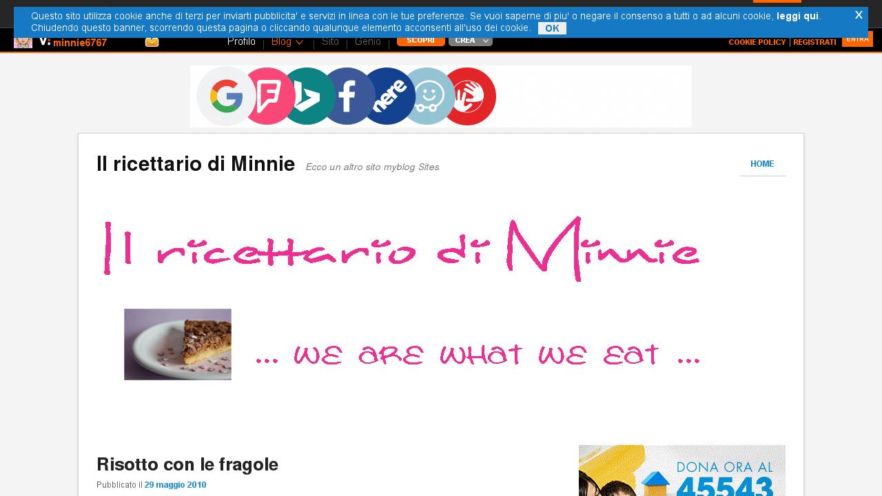 Il ricettario di Minnie