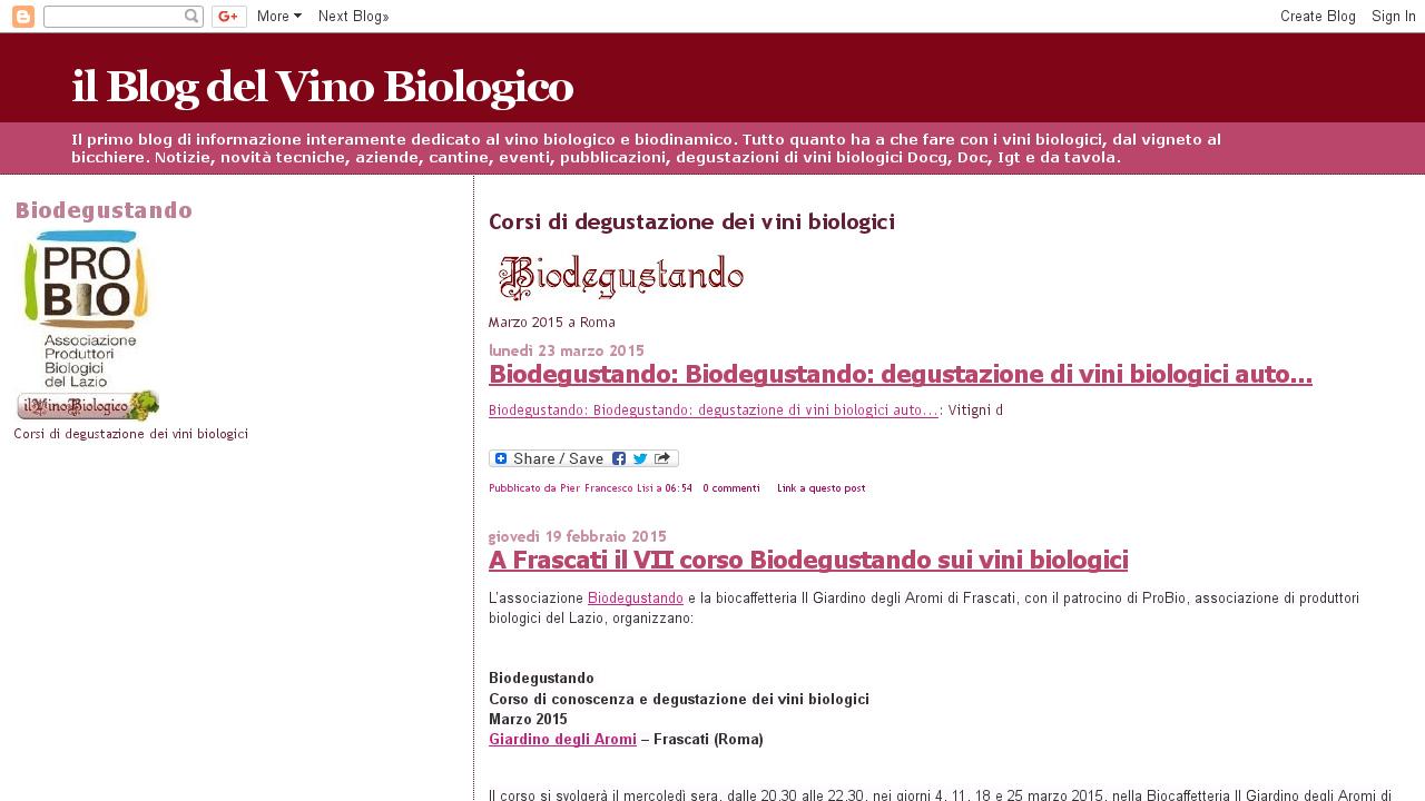 Il vino Biologico