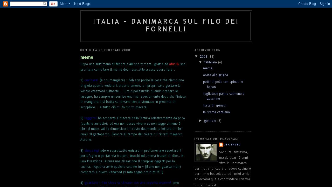 Italia - Danimarca sul filo dei fornelli