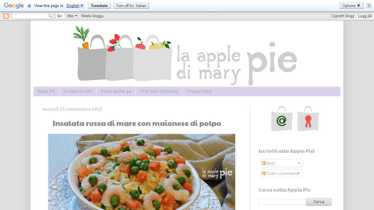 La Apple Pie di Mary Pie