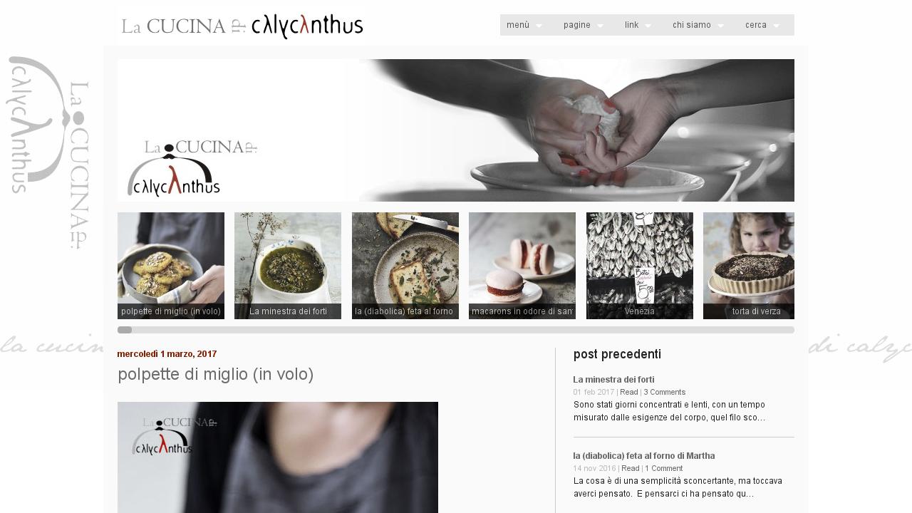 La cucina di calycanthus