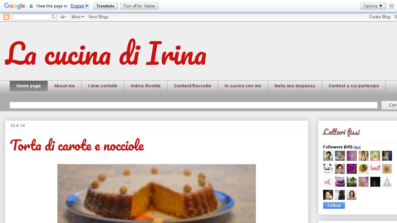 La cucina di Irina