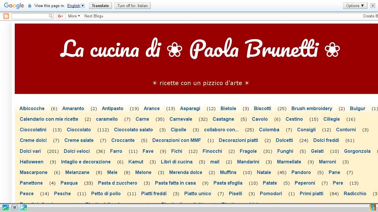 La cucina di Paola Brunetti