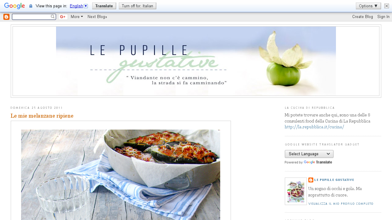 Le pupille gustative