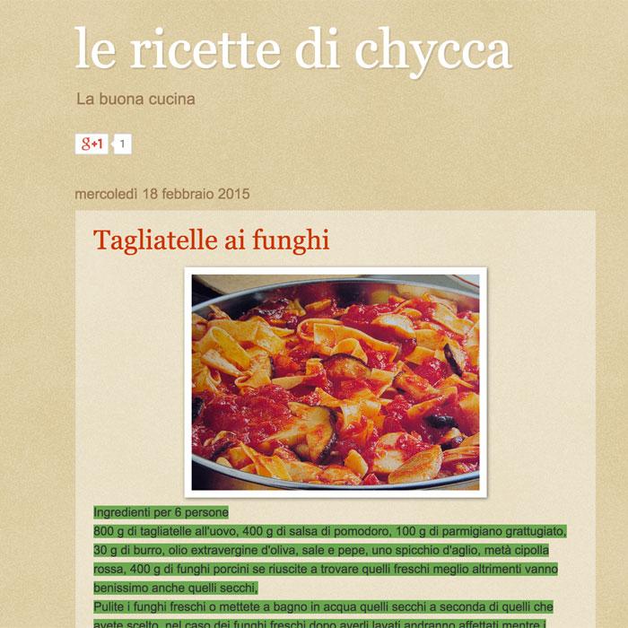 Le ricette di Chycca