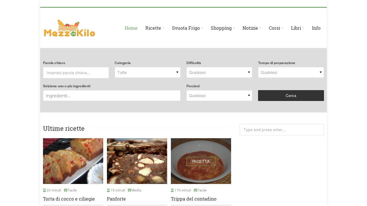 Mezzokilo.it   Le migliori ricette del Web