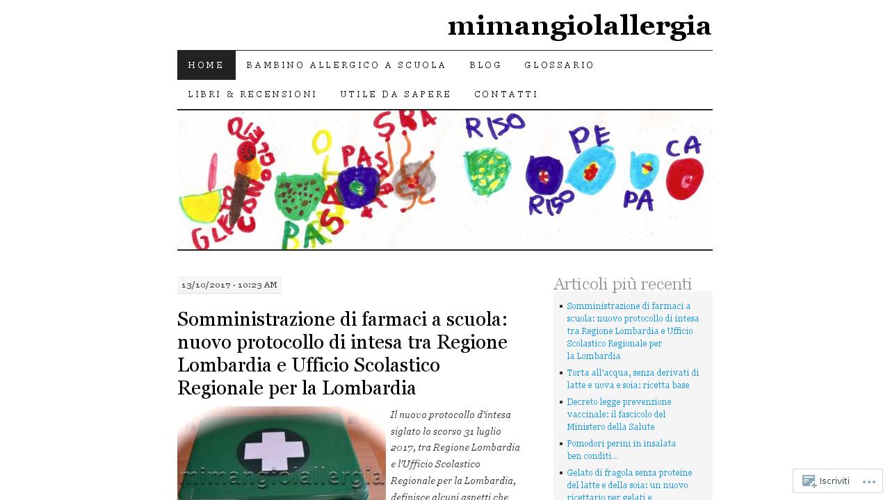 Mimangiolallergia