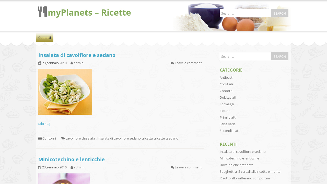 MyPlanets - Ricette