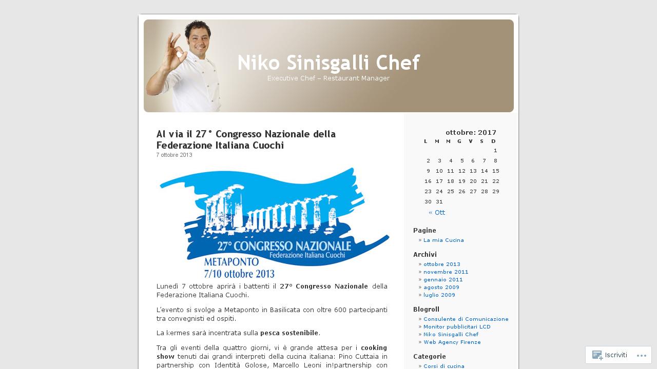 Niko Sinisgalli Chef