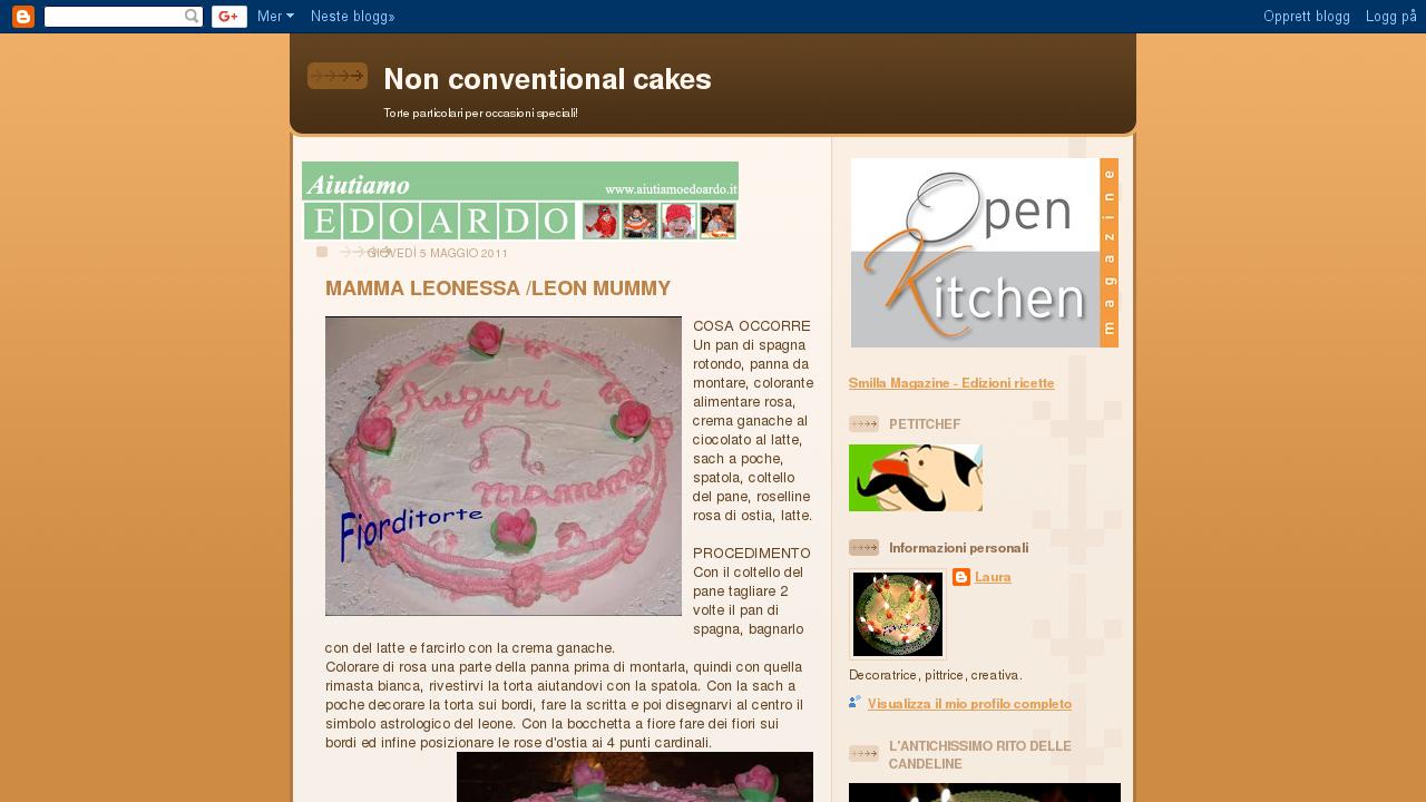 Non conventional cakes