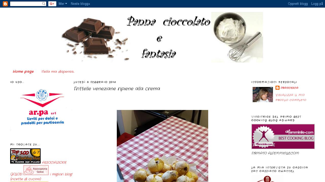 Panna cioccolato e fantasia