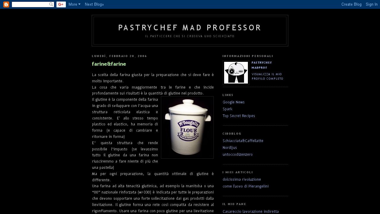 PastryChef Mad Professor