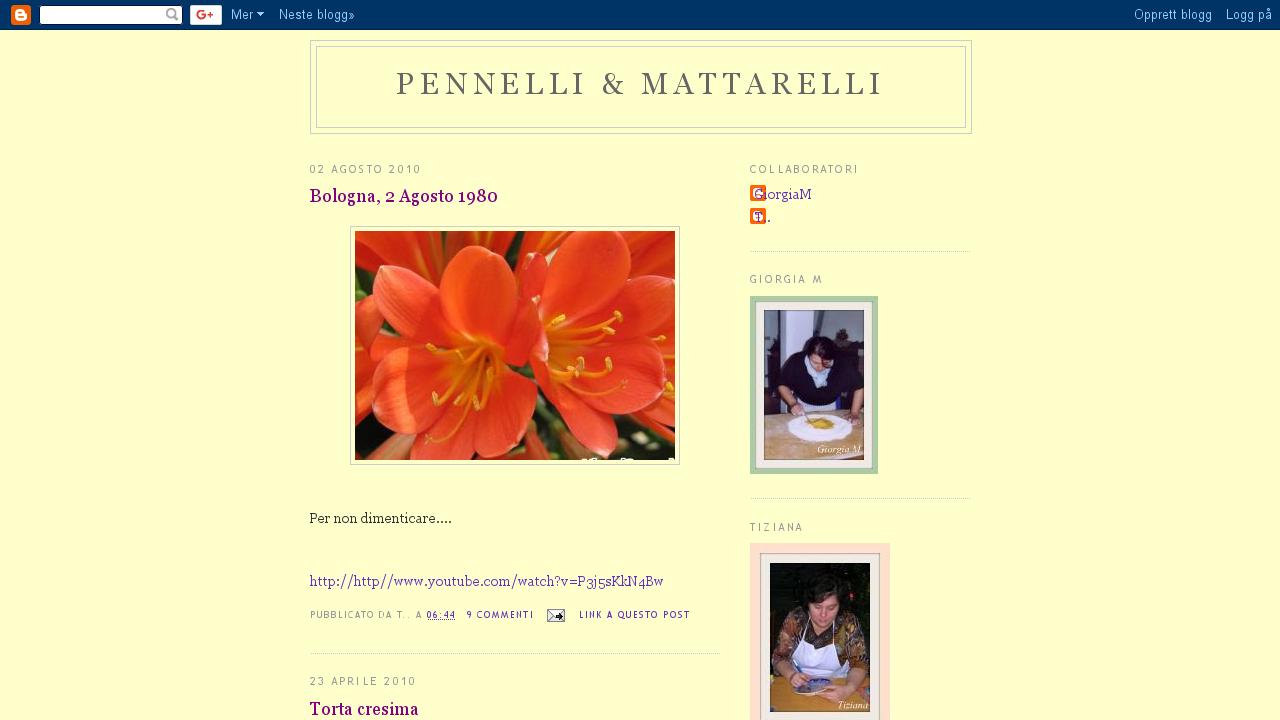 Pennelli e Mattarelli