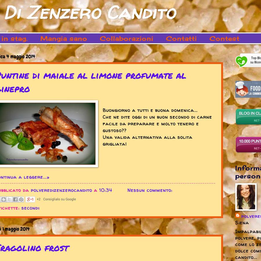 Polvere di zenzero candito for Cucinare zenzero