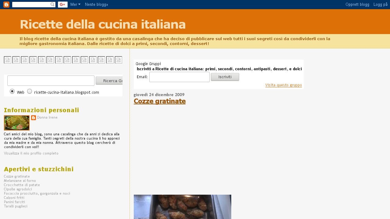 Ricette della cucina italiana