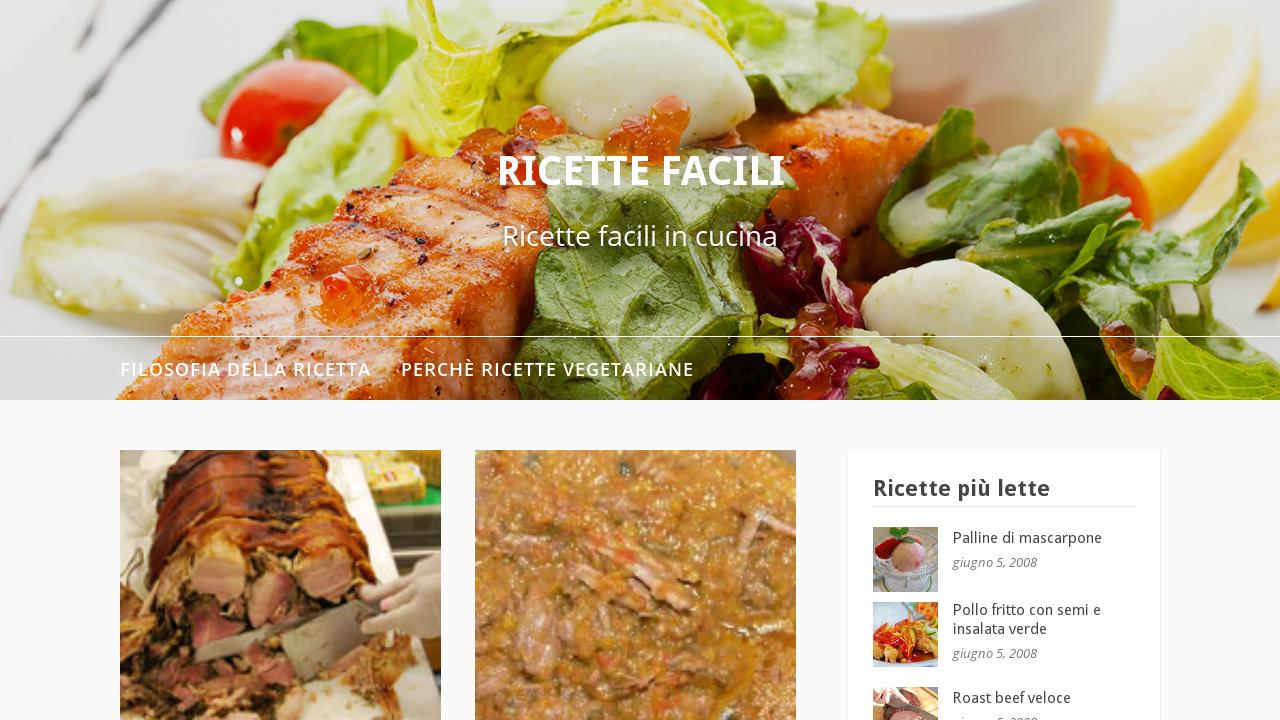 Ricette facili in cucina for Ricette cucina facili