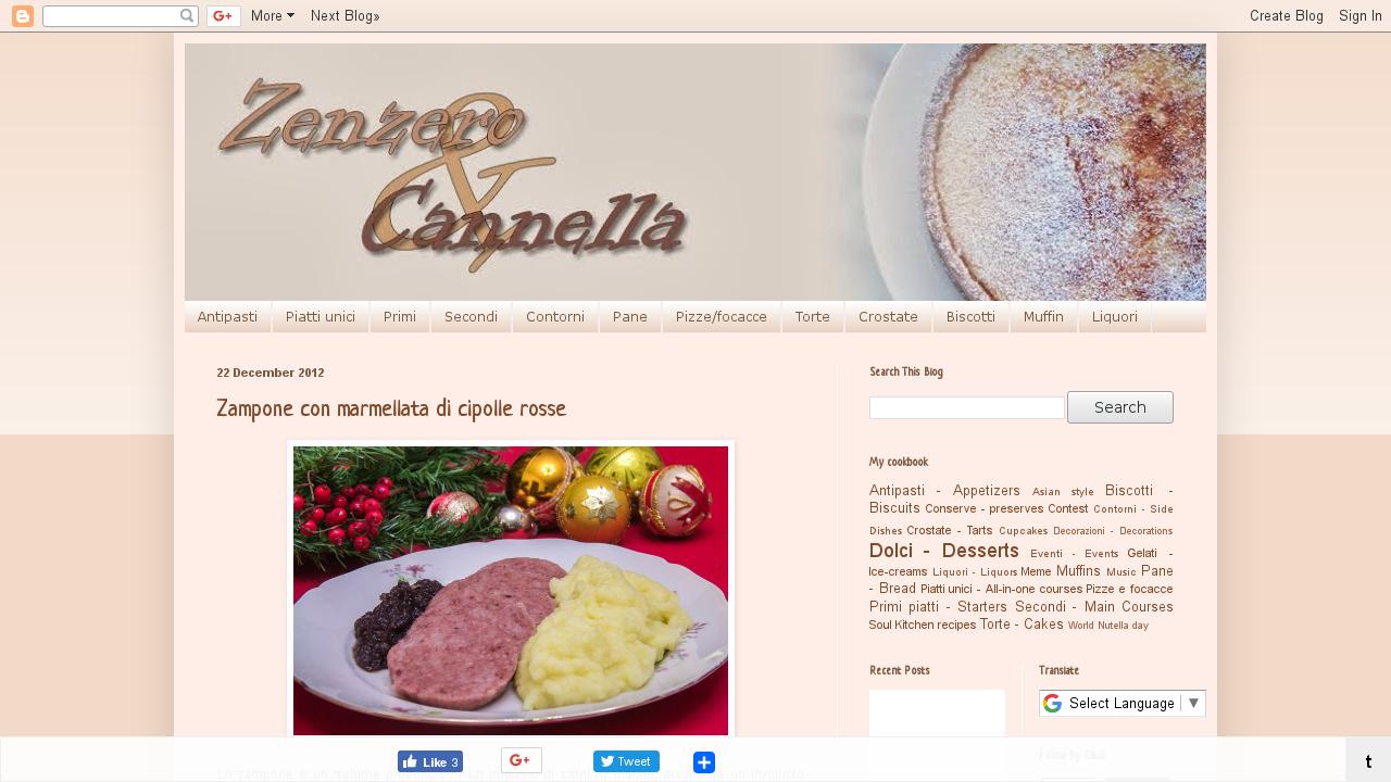 Zenzero cannella for Cucinare zenzero