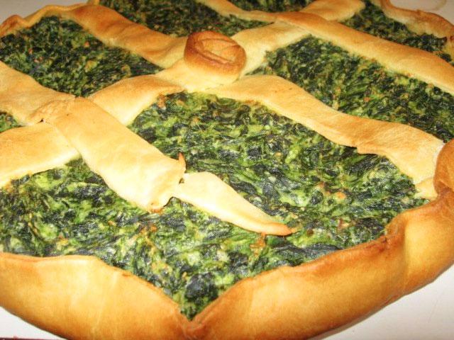 Crostata di ricotta e spinaci con pasta brisè