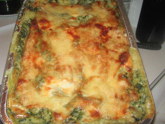 Lasagne con spinaci patate e taleggio