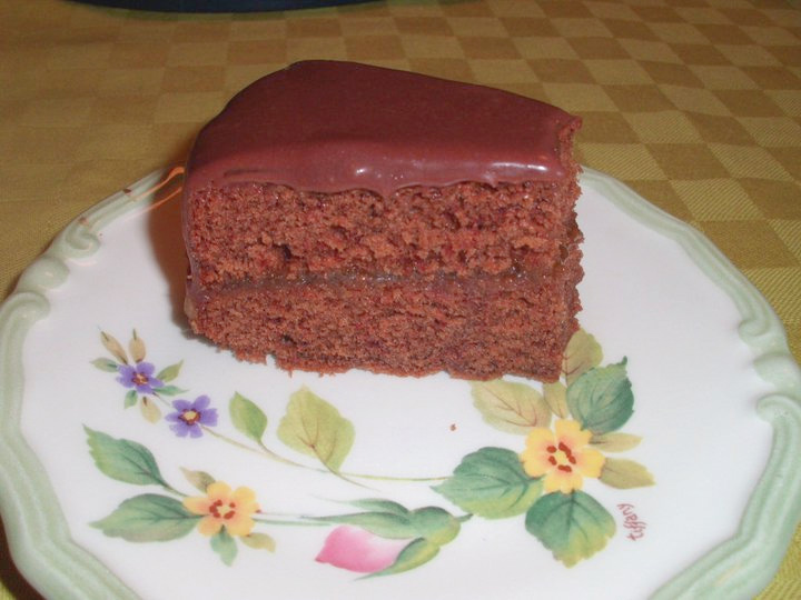 Sacher torte with special glaze