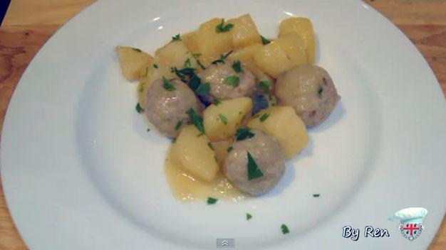 Polpette e patate in bianco