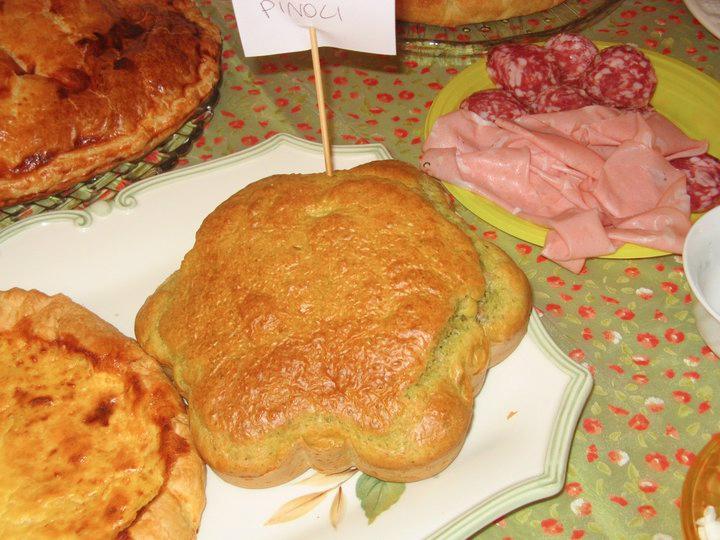 Cake pesto e pinoli